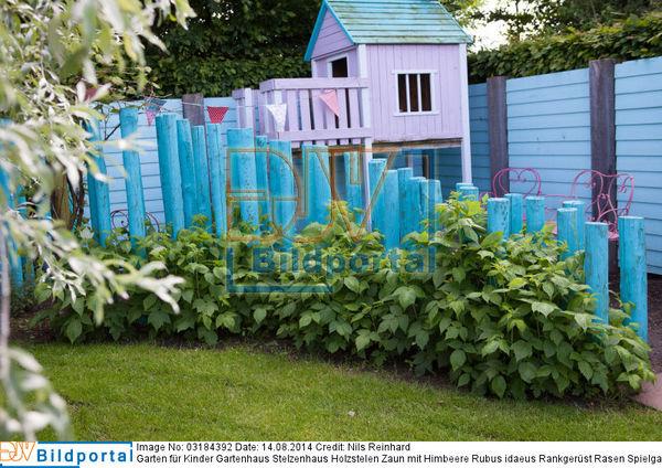 details zu 0003184392 garten f r kinder gartenhaus stelzenhaus holzstelen zaun mit himbeere. Black Bedroom Furniture Sets. Home Design Ideas