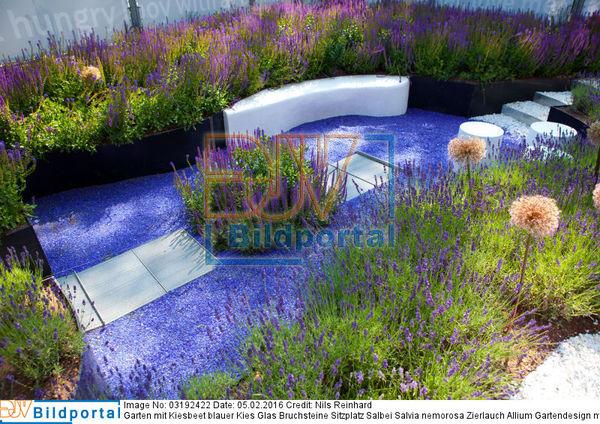 details zu 0003192422 garten mit kiesbeet blauer kies glas bruchsteine sitzplatz salbei. Black Bedroom Furniture Sets. Home Design Ideas