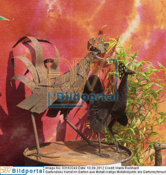 Details zu 0003163249 gartendeko kunst im garten aus for Gartenschmuck aus metall