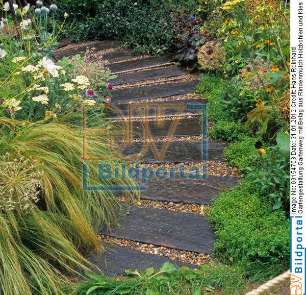 vorgartengestaltung rindenmulch, details zu #0003154703 - gartengestaltung gartenweg mit belag aus, Design ideen