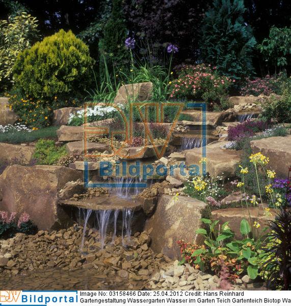 Details zu 0003158466 gartengestaltung wassergarten - Gartenteich wasserlauf ...