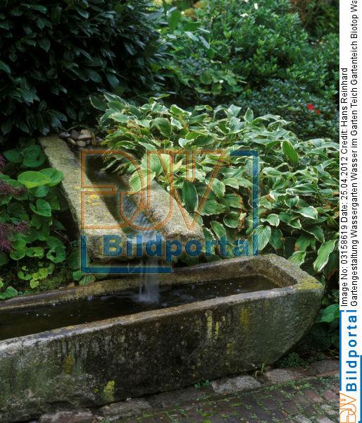 Details zu 0003158619 gartengestaltung wassergarten - Gartenteich wasserlauf ...