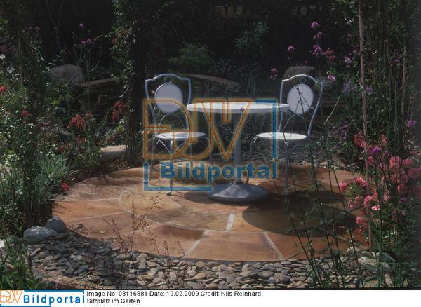 details zu 0003116881 gepflasterter runder sitzplatz djv bildportal. Black Bedroom Furniture Sets. Home Design Ideas