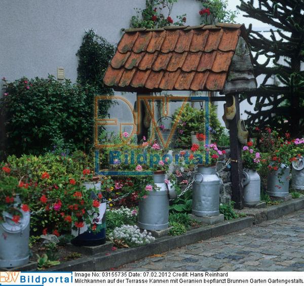 ... Brunnen Garten Gartengestaltung Bauerngarten Rustikale Ideen Für Den  Garten. Bild No. 0003155735
