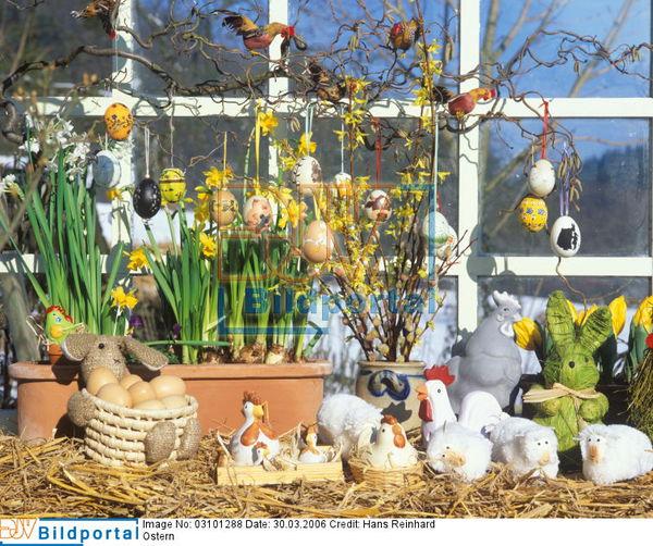 Details zu 0003101288 ostern eier an zweigen - Osterdeko fenster ...