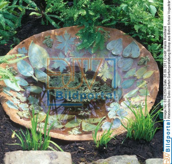 Beton Deko Garten: Schale Wasserstelle Deko Garten