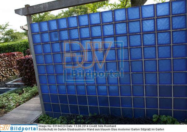 Details zu #0003184329 - Sichtschutz im Garten Glasbausteine Wand ...