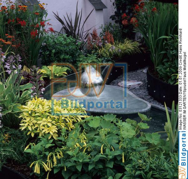 Details Zu 0003121333 Wasser Im Garten Sprudel Aus Metallkugel