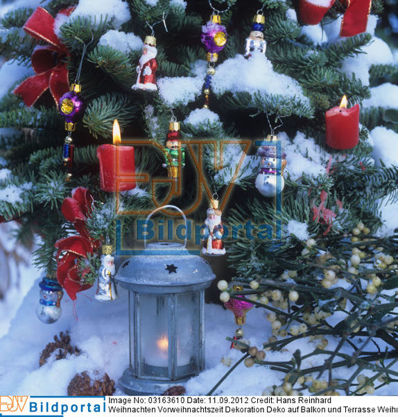 details zu 0003163610 weihnachten vorweihnachtszeit dekoration deko auf balkon und terrasse. Black Bedroom Furniture Sets. Home Design Ideas