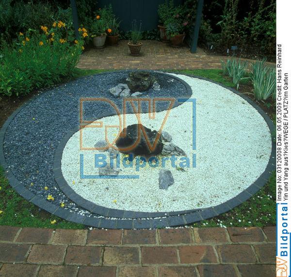 details zu 0003120008 yin und yang aus kies wege platz im garten djv bildportal. Black Bedroom Furniture Sets. Home Design Ideas