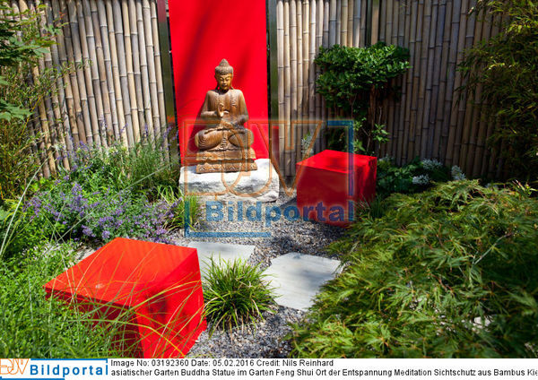 Details Zu 0003192360 Asiatischer Garten Buddha Statue Im Garten