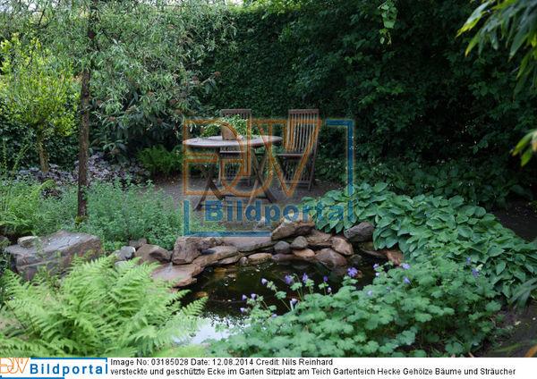 details zu 0003185028 versteckte und gesch tzte ecke im garten sitzplatz am teich gartenteich. Black Bedroom Furniture Sets. Home Design Ideas